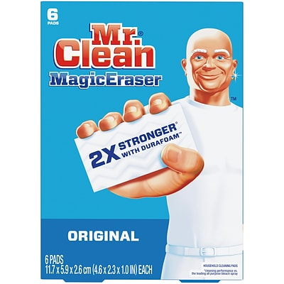 Mr. Clean Magic Eraser Original, Cleaning Pads with Durafoam, 6 count (79009)