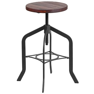 24 Counter Height Stool with Swivel Lift Wood Seat [ET-BM3732-24-GG]
