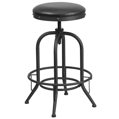 30 Barstool with Swivel Lift Black Leather Seat [ET-BR542-230-GG]