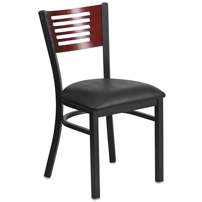 Metal Restaurant Chair[XU-DG-6G5B-MAH-BLKV-GG]