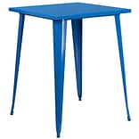 31.5 Square Bar Height Blue Metal Indoor-Outdoor Table (CH-51040-40-BL-GG)