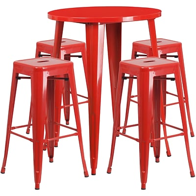 Flash Furniture Red Indoor Outdoor Sets (CH519BH430SQSRD)