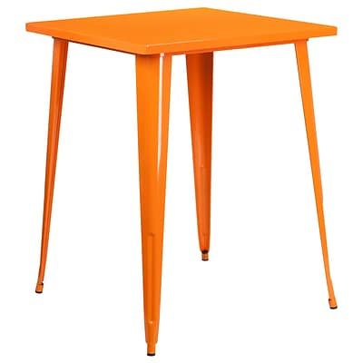 31.5 Square Bar Height Orange Metal Indoor-Outdoor Table (CH-51040-40-OR-GG)