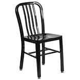 Black Metal Indoor-Outdoor Chair [CH-61200-18-BK-GG]