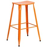 30 High Orange Metal Indoor-Outdoor Barstool [ET-3604-30-OR-GG]