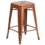 24 High Backless Copper Indoor-Outdoor Counter Height Stool [ET-BT3503-24-POC-GG]