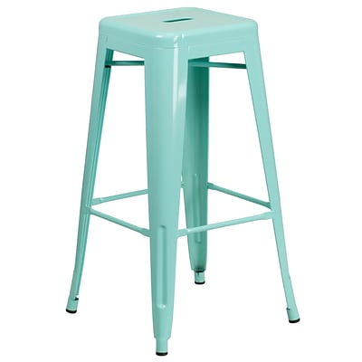 30 High Backless Mint Green Indoor-Outdoor Barstool [ET-BT3503-30-MINT-GG]