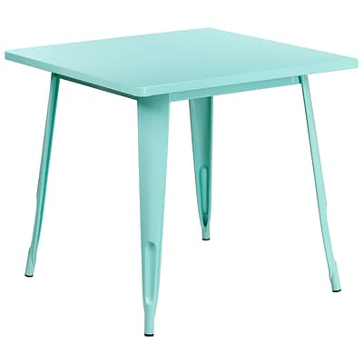 31.5 Square Mint Green Metal Indoor-Outdoor Table [ET-CT002-1-MINT-GG]