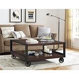 Altra Wade Wood Veneer Coffee Table, Mahogany (5038096COM)