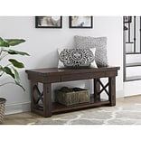 Altra Wildwood Wood Veneer Entryway Bench, Mahogany (5054196COM)