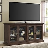 Altra Bennett 70  TV Console with Glass Doors, Medium Oak (1784196PCOM)