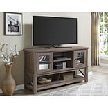 Altra Everett TV Stand  for TVs up to 70 with Glass Doors, Sonoma Oak (1785096COM)