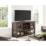 Altra Everett TV Stand for TVs up to 70 with Glass Doors, Medium Oak (1785196COM)