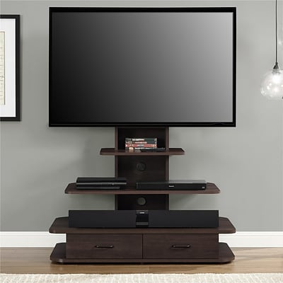 Ameriwood Home Englewood TV Stand for TVs up to 55, Dark Gray Oak (1222213P)