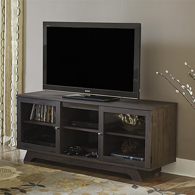 Ameriwood Home Englewood TV Stand for TVs up to 55, Dark Gray Oak (1222213PCOM)