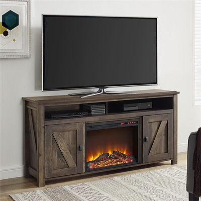 AltraFlame Farmington Electric Fireplace TV Console for TVs up to 60, Dark Rust (1795096COM)