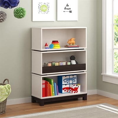 Cosco Leni Storage Bookcase, White and Coffee House Plank (5926216COM)