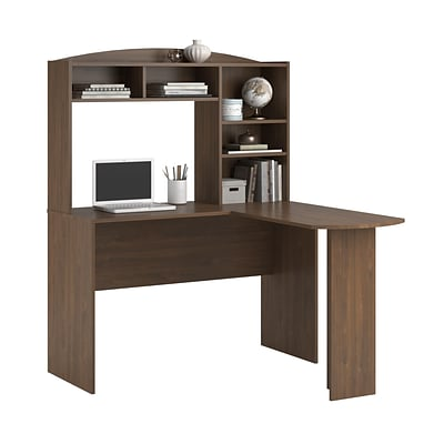 Altra Sutton L Desk with Hutch, Saint Walnut (9883214COM)