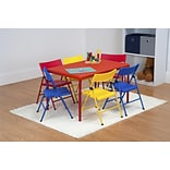 Safety First 7 Piece Children's Juvenile Set with Folding Chairs and Table (37372RED1E)