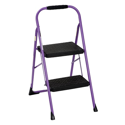 Cosco Two Step Big Step Folding Step Stool with Rubber Hand Grip (11308PRP1E)