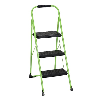 Cosco Three Step Big Step Folding Step Stool with Rubber Hand Grip (11408GNF1E)