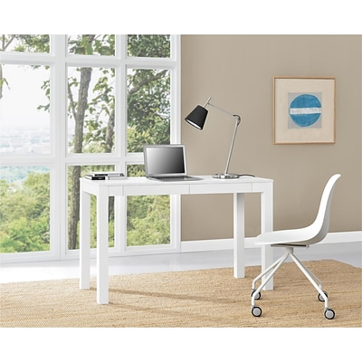 Altra Large Parsons Desk with 2 Drawers, White (9889396COM)