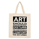 Retrospect Group Natural Canvas ART SHOULD DISTURB Tote Bag 16.5 x 14.57 x 4.33 (RETV086)