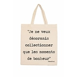 Retrospect Group Natural Canvas Je ne veux desormais... - Stendhal - RETROSPECT Tote Bag 16.5 x 14