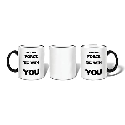 Retrospect Group MAY THE FORCE BE WITH YOU Ceramic 11 Ounce Mug (MUG122)