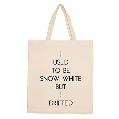 Retrospect Group Natural Canvas I Used To Be Snow White But I Drifted - RETROSPECT Tote Bag 16.5 x 14.57 x 4.33 (RETV059)