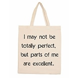 Retrospect Group Natural Canvas I May Not Be Totally Perfect - RETROSPECT Tote Bag 16.5 x 14.57 x 4.