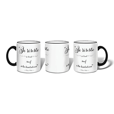 Retrospect Group LE RESISTE A TOUT SAUF A LA TENTATION Ceramic 11 Ounce Mug (MUG080)