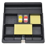 Post-it® Desk Drawer Organizer, Black (C-71)