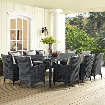 Summon 90 Outdoor Patio Dining Table in Gray (889654027355)