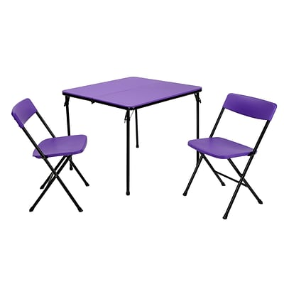 Cosco 2 Piece Center Fold Table And 2 Chairs Purple 37334pnb1e