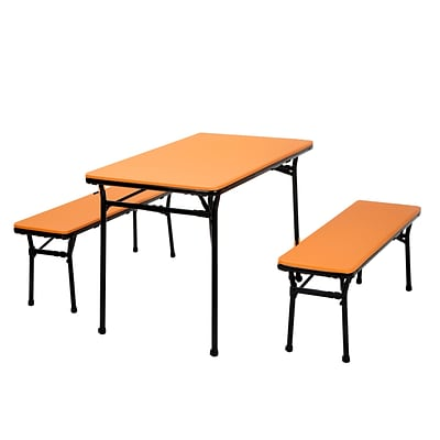 Cosco Table and 2 bench set Orange (37331ONB1E)