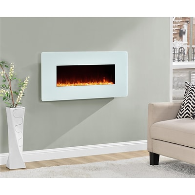 Altra Kenna 35 Wall Mounted Electric Fireplace, White (5033196COM)