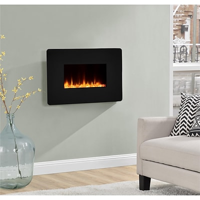 Altra Kenna 25 Wall Mounted Electric Fireplace, Black (5034096COM)