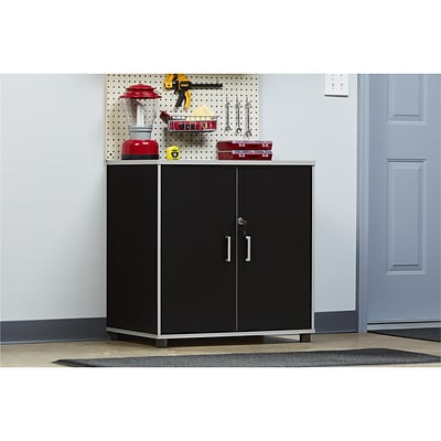 SystemBuild Apollo 2 Door Base Cabinet, Black (7466056COM)
