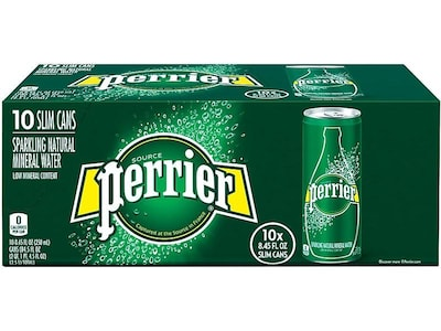 Perrier Natural Mineral Sparkling Water, 8.45 Oz., 10/Pack (12283059)
