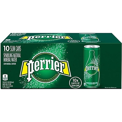 Perrier Sparkling Mineral Water, 8.45 oz., 10/Pack (12283059)
