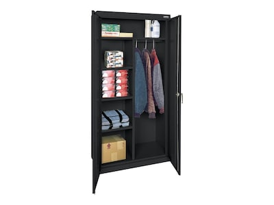 "Sandusky Lee Classic Series 72"" Steel Storage Cabinet With 4 Shelves, Black (cac1361872 09)"