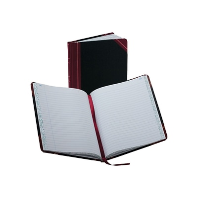 Boorum & Pease 38 Series Record Book, 150 Pages, Black/Red (38-150-R)