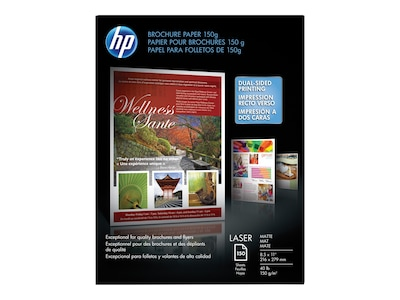 "HP Color Laser Matte Brochure Paper, 8.5"" x 11"", 150/Pack (Q6543A)"