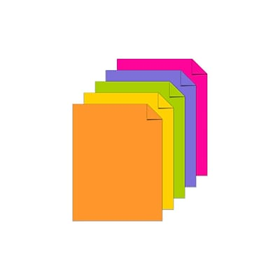 Astrobrights Cardstock Paper, 65 lbs, 8.5 x 11, Assorted Colors, 250/Pack (21004)