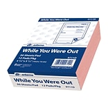 Adams While You Were Out Message Pads, 4.25 x 5.5, Pink, 50 Sheets/Pad, 12 Pads/Pack (9711D)