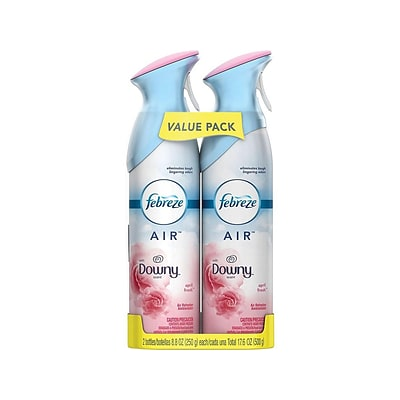 Febreze AIR Handheld Aerosols, Downy April Fresh, 8.8 oz. 2/Pack (97812)