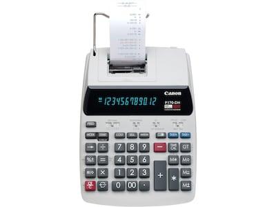 Canon P170 DH 3 2204C001 12 Digit Desktop Printing Calculator, White