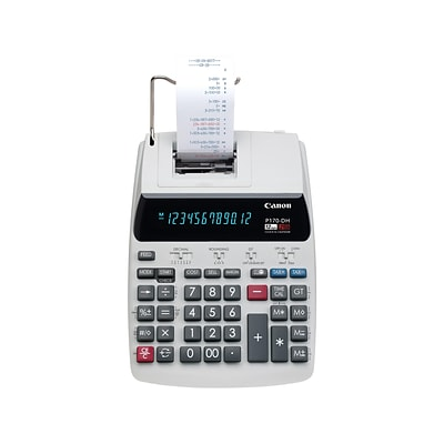 Canon P170-DH-3 2204C001 12-Digit Desktop Printing Calculator, White