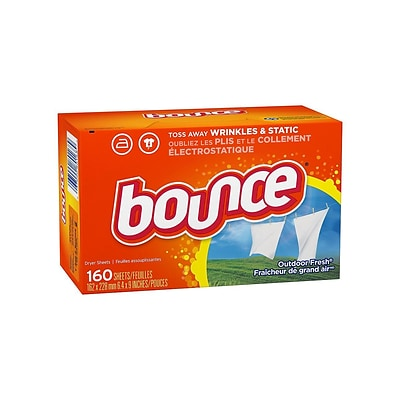 Bounce Outdoor Fresh Softener Sheets, 160/Box (80168)